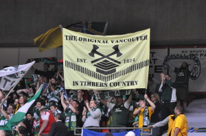 Our house, in the middle of BC!  Timbers win 2-0 over Whitecaps to advance to Conference Final